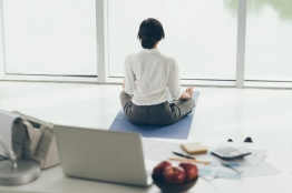 Meditating in the morning